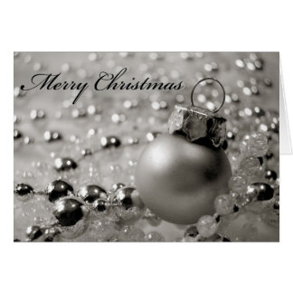 Christmas Card Ornament with Beads
