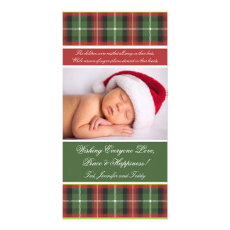 Christmas Card Photo Card - Plaid