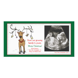 Christmas Card Pregnancy Announcement- Reindeer