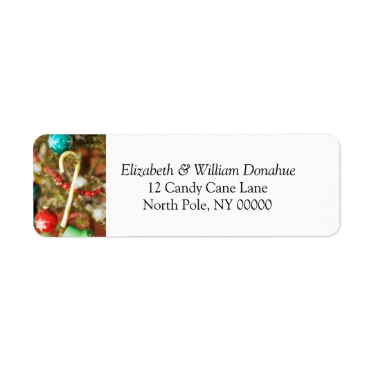 Christmas Card Self Addressed Label