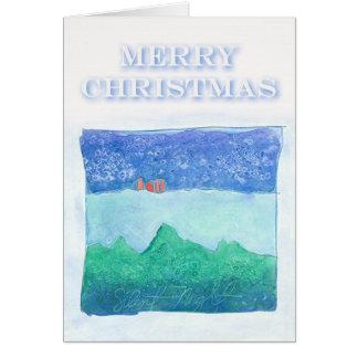 Christmas Card Silent Night by Susan M. Edgerton
