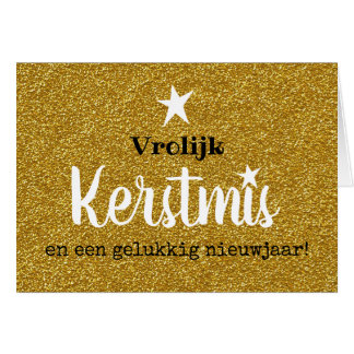 Christmas card sparkle and glamor gold ASTRE
