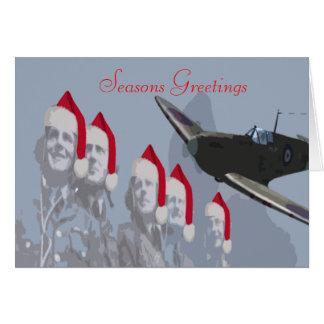 Christmas Card Spitfire & Pilots