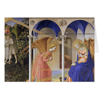 Christmas Card: The Annunciation by Fra Angelico Card