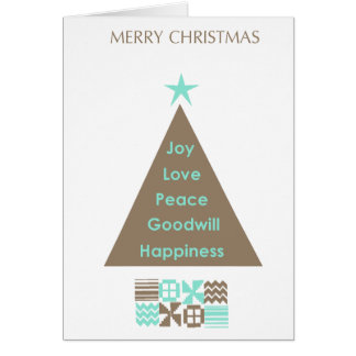 Christmas Card -Tree with African Motif