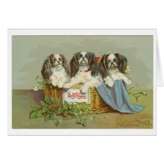 Christmas card Vintage Puppy