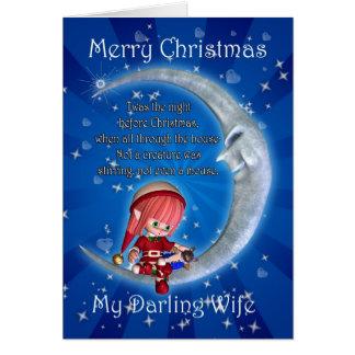 Christmas card, Wife Christmas, Snowman on the Moo Card