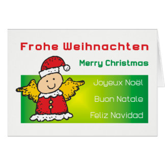 """Christmas card """"winged Santa Claus """""""