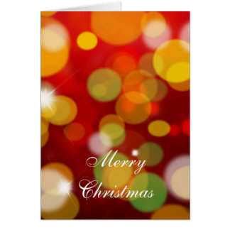 Christmas Card with blurred lights effect