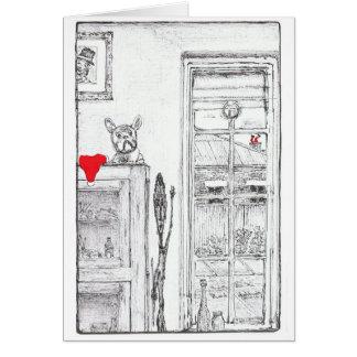 Christmas Card with cute dog