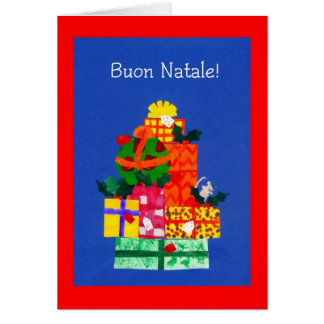 Christmas Card with Gifts - Italian Greeting