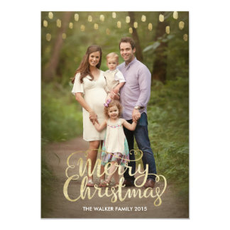 Christmas Card with gold foil effect