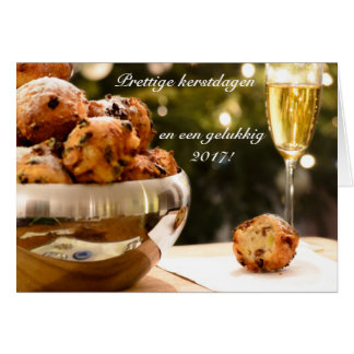 Christmas card with oliebollen and text