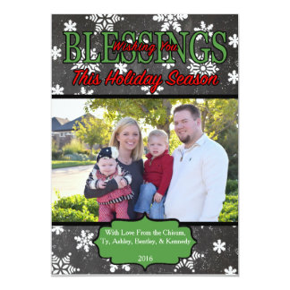 Christmas Card with One Family Photo