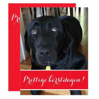Christmas card with photograph