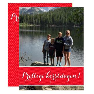 Christmas card with photograph 11 cm x 14 cm invitation card