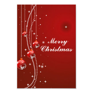 Christmas Card with White Pearls