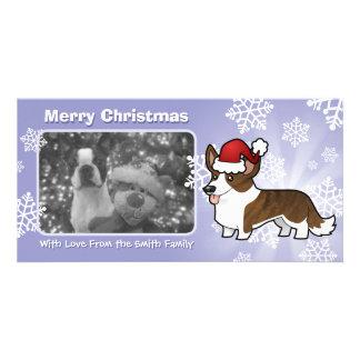 Christmas Cardigan Welsh Corgi Custom Photo Card