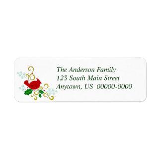 Christmas Cardinal Avery Return Address Label