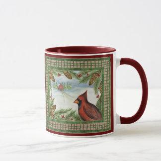 Christmas Cardinal  Mug