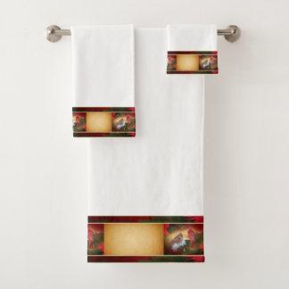 Christmas Cardinals Bath Towel Set