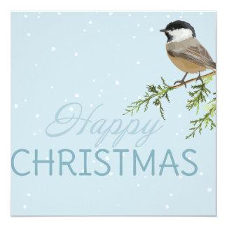 Christmas cards bird tree branch Xmas