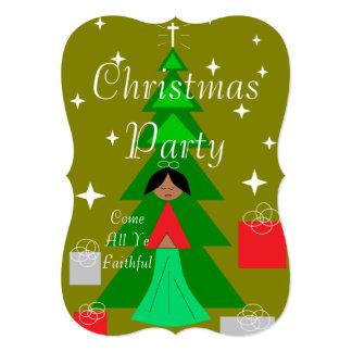 Christmas Carol Merry Christmas 13 Cm X 18 Cm Invitation Card