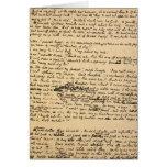 Christmas Carol Original Manuscript Greeting Cards