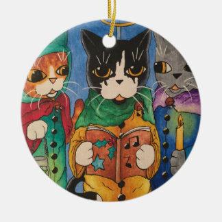 Christmas Carol Singers Ceramic Ornament
