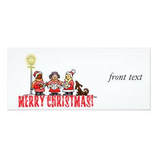 Christmas Carolers 10 Cm X 24 Cm Invitation Card