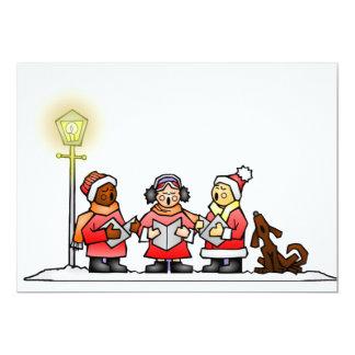 Christmas Carolers 13 Cm X 18 Cm Invitation Card