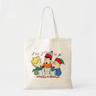 Christmas Carolers Canvas Bag
