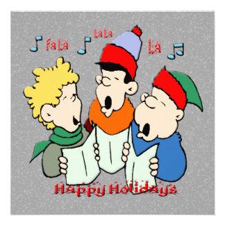 Christmas Carolers Christmas Invitation