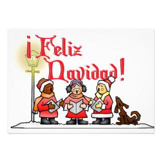 Christmas Carolers - Feliz Navidad Invitation
