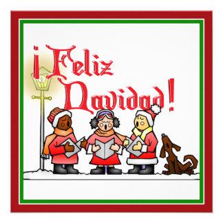 Christmas Carolers - Feliz Navidad Announcements