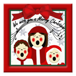 Christmas Carolers Greeting Announcement