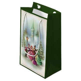 Christmas Carolers Holiday Vintage party bag