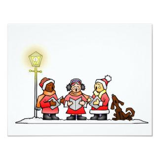 Christmas Carolers 11 Cm X 14 Cm Invitation Card