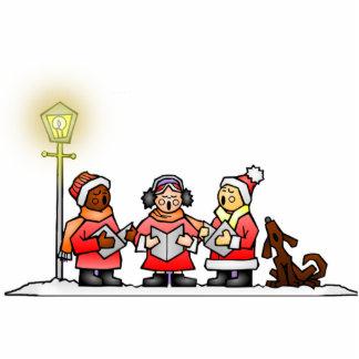 Christmas Carolers Photo Cutouts