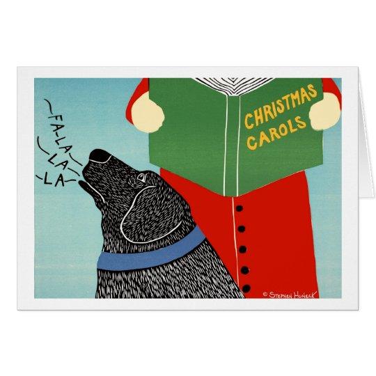 Christmas Caroling Card - Stephen Huneck