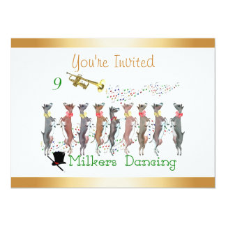 Christmas Caroling Goats Invitation
