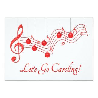 Christmas Caroling Party 13 Cm X 18 Cm Invitation Card