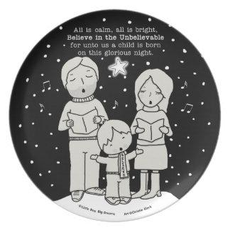 Christmas Caroling Plate