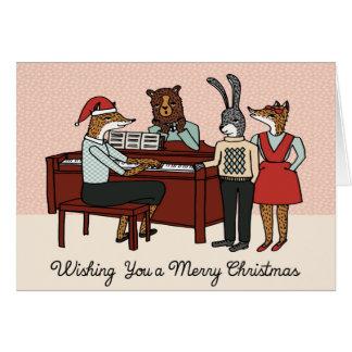 Christmas Carols around the Piano Card