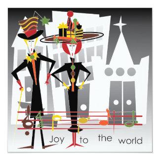 Christmas Carols Joy Card/Invitation 13 Cm X 13 Cm Square Invitation Card