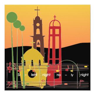 Christmas Carols Silent Card/Invitation 13 Cm X 13 Cm Square Invitation Card