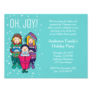 Christmas Carols Winter Party Invitation Announcements