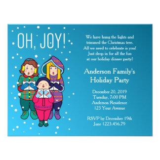 Christmas Carols Winter Party Invitation Personalized Invites