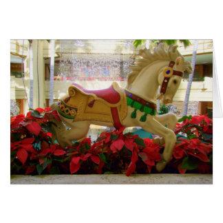 Christmas Carousel Horse - 1 Card