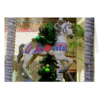 Christmas Carousel Horse - 2 Card